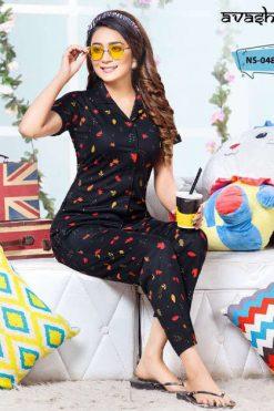 Avashya Premium Satin Night Wear Vol 9 Wholesale Catalog 6 Pcs