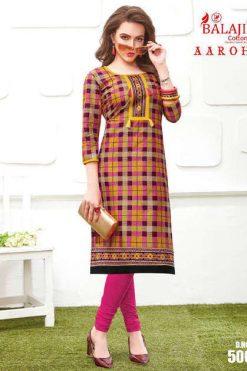 Balaji Cotton Aarohi Vol 5 Kurti Wholesale Catalog 7 Pcs