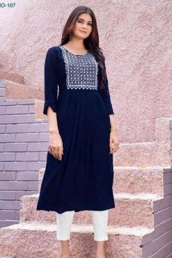 Blue Hills Miss India Vol 1 Kurti Wholesale Catalog 8 Pcs