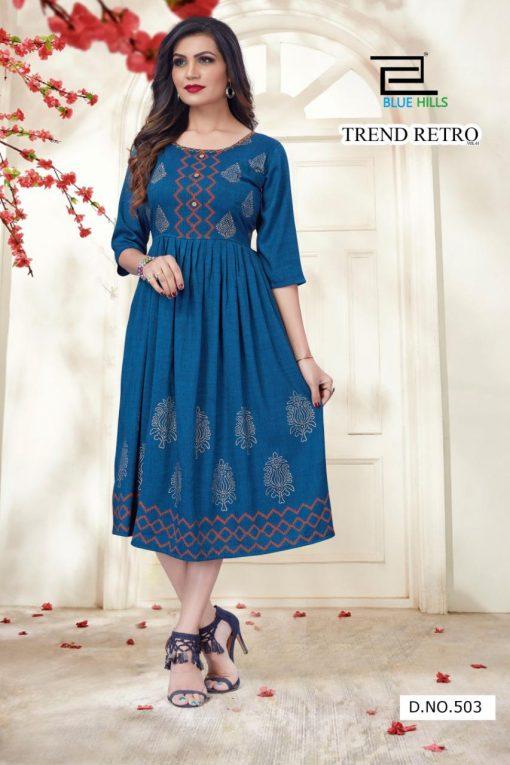Blue Hills Trend Retro Kurti Wholesale Catalog 9 Pcs 6 510x765 - Blue Hills Trend Retro Kurti Wholesale Catalog 9 Pcs