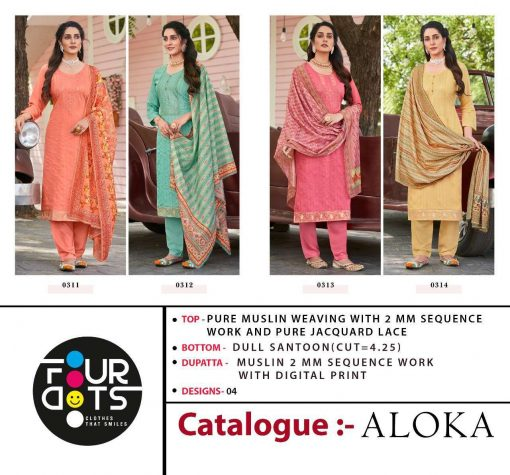 Four Dots Aloka by Kessi Salwar Suit Wholesale Catalog 4 Pcs 7 510x475 - Four Dots Aloka by Kessi Salwar Suit Wholesale Catalog 4 Pcs