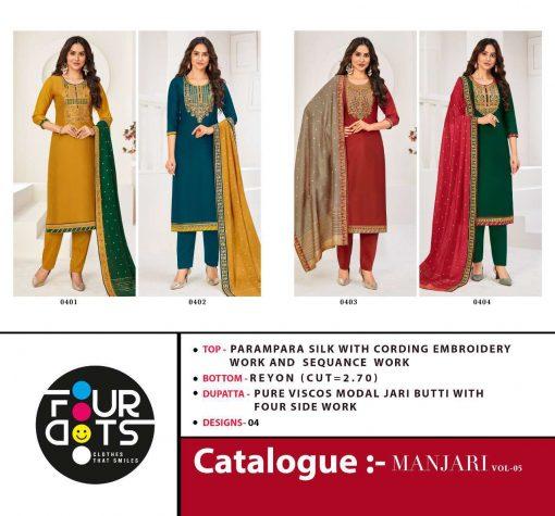 Four Dots Manjari Vol 5 by Kessi Salwar Suit Wholesale Catalog 4 Pcs 9 1 510x475 - Four Dots Manjari Vol 5 by Kessi Salwar Suit Wholesale Catalog 4 Pcs