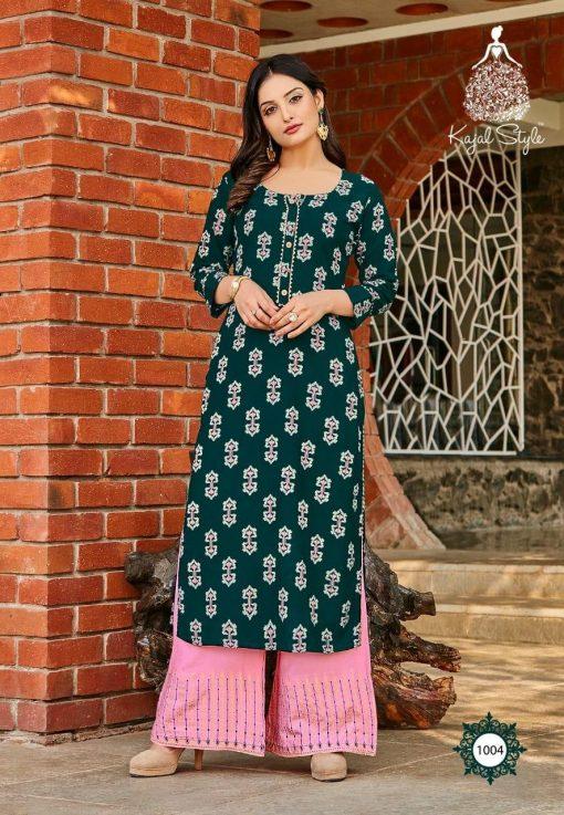 Kajal Style Fashion Diva Vol 1 Kurti with Palazzo Wholesale Catalog 8 Pcs 4 510x737 - Kajal Style Fashion Diva Vol 1 Kurti with Palazzo Wholesale Catalog 8 Pcs