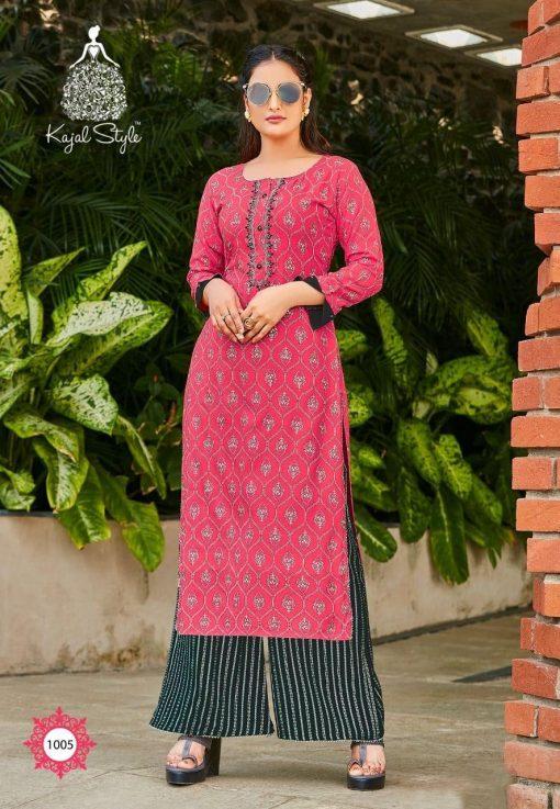 Kajal Style Fashion Diva Vol 1 Kurti with Palazzo Wholesale Catalog 8 Pcs 5 510x737 - Kajal Style Fashion Diva Vol 1 Kurti with Palazzo Wholesale Catalog 8 Pcs