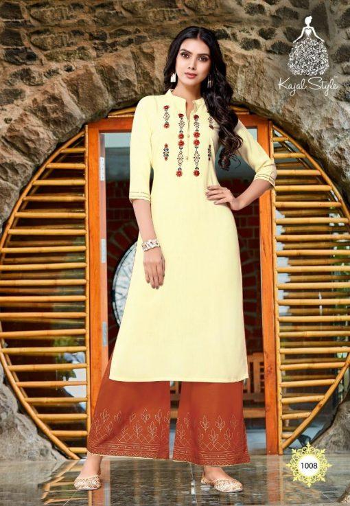 Kajal Style Fashion Diva Vol 1 Kurti with Palazzo Wholesale Catalog 8 Pcs 8 510x737 - Kajal Style Fashion Diva Vol 1 Kurti with Palazzo Wholesale Catalog 8 Pcs