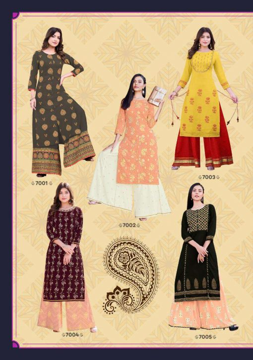 Kajal Style Fashion Label Vol 7 Kurti with Palazzo Sharara Wholesale Catalog 10 Pcs 12 510x725 - Kajal Style Fashion Label Vol 7 Kurti with Palazzo Sharara Wholesale Catalog 10 Pcs