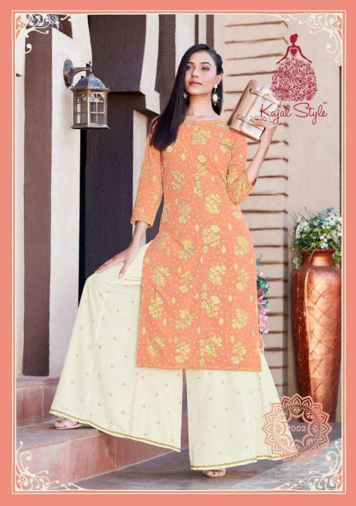 Kajal Style Fashion Label Vol 7 Kurti with Palazzo Sharara Wholesale Catalog 10 Pcs 3 510x725 - Kajal Style Fashion Label Vol 7 Kurti with Palazzo Sharara Wholesale Catalog 10 Pcs