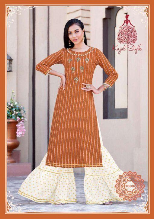 Kajal Style Fashion Label Vol 7 Kurti with Palazzo Sharara Wholesale Catalog 10 Pcs 9 510x725 - Kajal Style Fashion Label Vol 7 Kurti with Palazzo Sharara Wholesale Catalog 10 Pcs