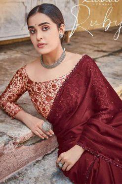 Kashvi Ruby by Lt Fabrics Saree Sari Wholesale Catalog 10 Pcs
