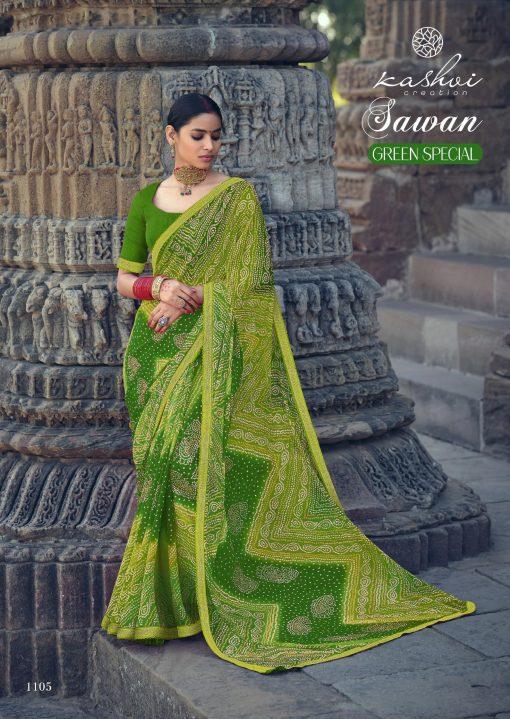 Kashvi Sawan Green by Lt Fabrics Saree Sari Wholesale Catalog 10 Pcs 11 510x719 - Kashvi Sawan Green by Lt Fabrics Saree Sari Wholesale Catalog 10 Pcs