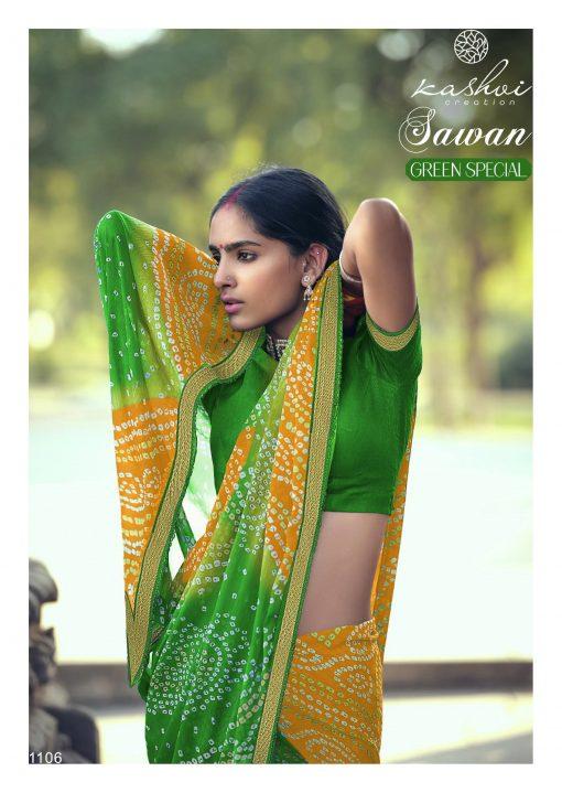 Kashvi Sawan Green by Lt Fabrics Saree Sari Wholesale Catalog 10 Pcs 14 510x719 - Kashvi Sawan Green by Lt Fabrics Saree Sari Wholesale Catalog 10 Pcs