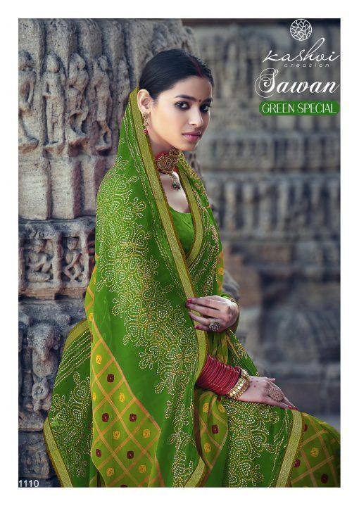 Kashvi Sawan Green by Lt Fabrics Saree Sari Wholesale Catalog 10 Pcs 22 510x719 - Kashvi Sawan Green by Lt Fabrics Saree Sari Wholesale Catalog 10 Pcs