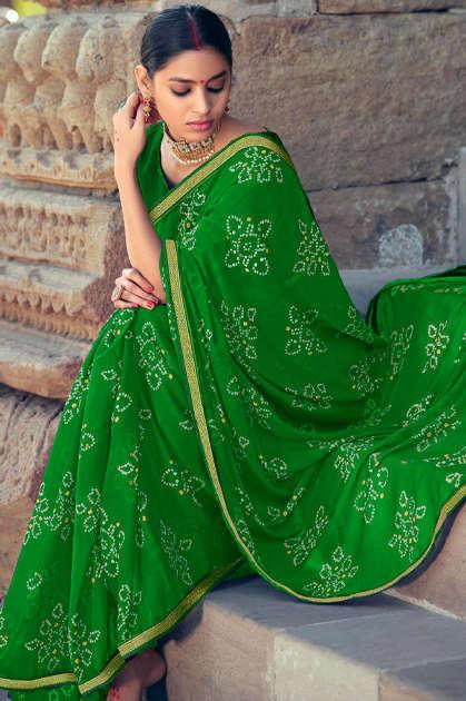 Kashvi Sawan Green by Lt Fabrics Saree Sari Wholesale Catalog 10 Pcs