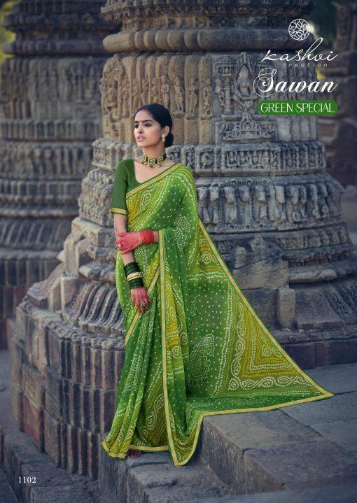 Kashvi Sawan Green by Lt Fabrics Saree Sari Wholesale Catalog 10 Pcs 5 510x719 - Kashvi Sawan Green by Lt Fabrics Saree Sari Wholesale Catalog 10 Pcs