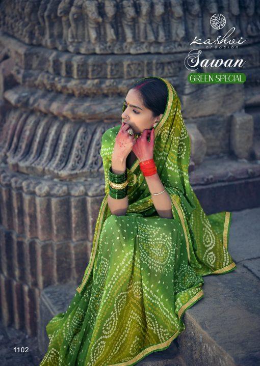 Kashvi Sawan Green by Lt Fabrics Saree Sari Wholesale Catalog 10 Pcs 6 510x719 - Kashvi Sawan Green by Lt Fabrics Saree Sari Wholesale Catalog 10 Pcs