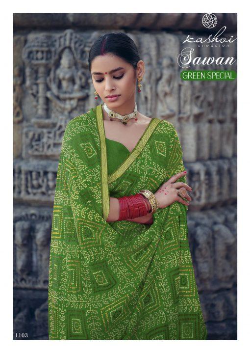 Kashvi Sawan Green by Lt Fabrics Saree Sari Wholesale Catalog 10 Pcs 7 510x719 - Kashvi Sawan Green by Lt Fabrics Saree Sari Wholesale Catalog 10 Pcs