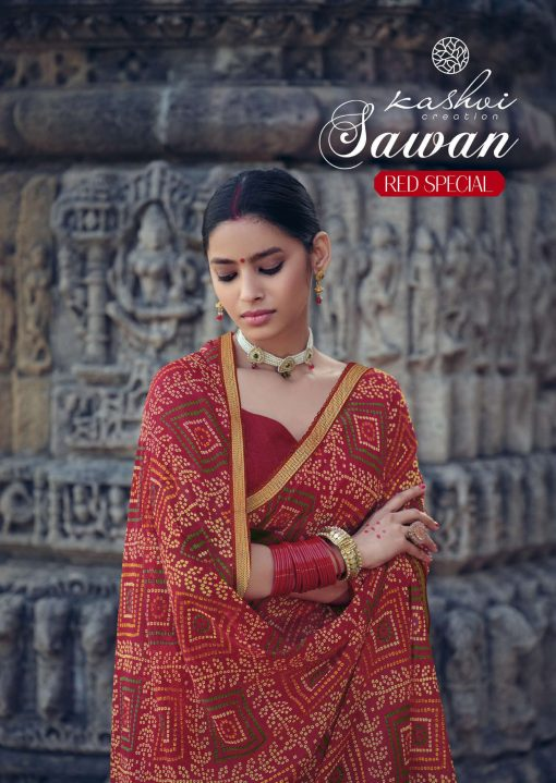 Kashvi Sawan Red by Lt Fabrics Saree Sari Wholesale Catalog 10 Pcs 1 510x719 - Kashvi Sawan Red by Lt Fabrics Saree Sari Wholesale Catalog 10 Pcs