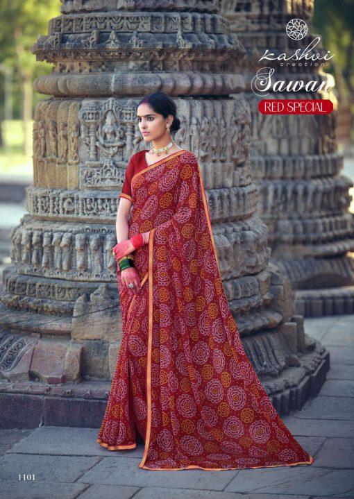 Kashvi Sawan Red by Lt Fabrics Saree Sari Wholesale Catalog 10 Pcs 3 510x719 - Kashvi Sawan Red by Lt Fabrics Saree Sari Wholesale Catalog 10 Pcs