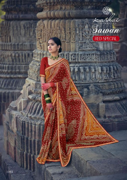 Kashvi Sawan Red by Lt Fabrics Saree Sari Wholesale Catalog 10 Pcs 5 510x719 - Kashvi Sawan Red by Lt Fabrics Saree Sari Wholesale Catalog 10 Pcs