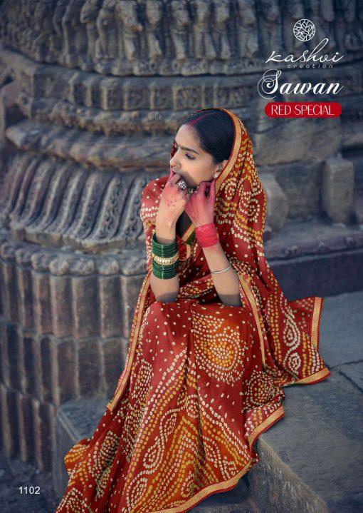 Kashvi Sawan Red by Lt Fabrics Saree Sari Wholesale Catalog 10 Pcs 6 510x719 - Kashvi Sawan Red by Lt Fabrics Saree Sari Wholesale Catalog 10 Pcs