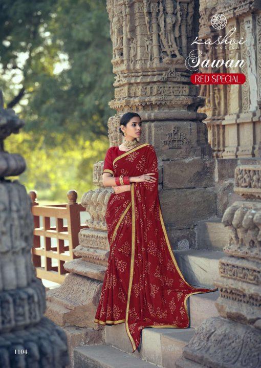 Kashvi Sawan Red by Lt Fabrics Saree Sari Wholesale Catalog 10 Pcs 9 510x719 - Kashvi Sawan Red by Lt Fabrics Saree Sari Wholesale Catalog 10 Pcs