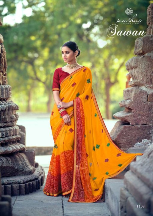 Kashvi Sawan by Lt Fabrics Saree Sari Wholesale Catalog 10 Pcs 16 1 510x720 - Kashvi Sawan by Lt Fabrics Saree Sari Wholesale Catalog 10 Pcs