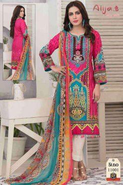 Keval Fab Alija B Vol 11 Heavy Cotton Salwar Suit Wholesale Catalog 6 Pcs