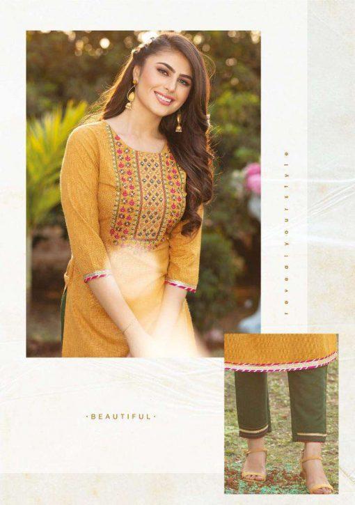 Kiana Hello Gorgeous Kurti with Pant Wholesale Catalog 8 Pcs 3 510x725 - Kiana Hello Gorgeous Kurti with Pant Wholesale Catalog 8 Pcs