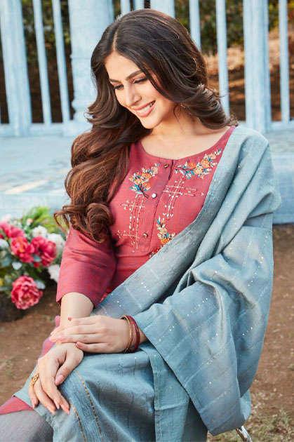 Kiana Odhani Kurti with Dupatta Bottom Wholesale Catalog 6 Pcs
