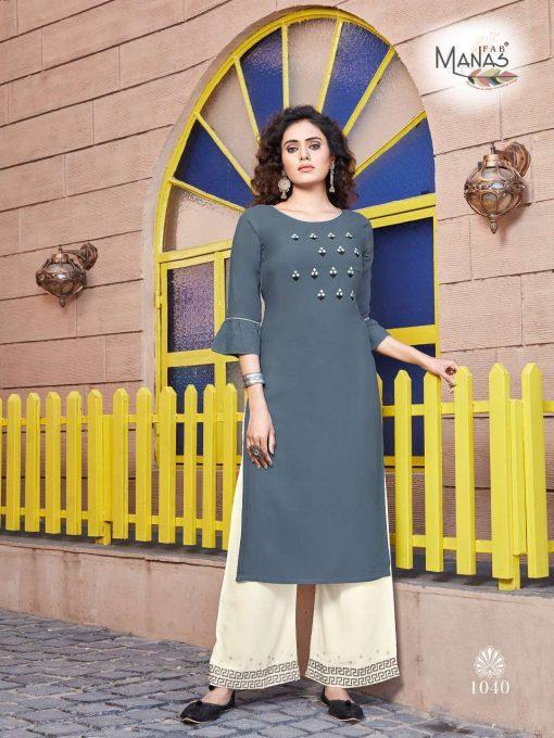 Manas Anishka Vol 6 Kurti with Palazzo Wholesale Catalog 6 Pcs 5 510x680 - Manas Anishka Vol 6 Kurti with Palazzo Wholesale Catalog 6 Pcs