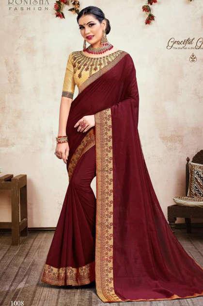 Ranjna Jhumki Saree Sari Wholesale Catalog 8 Pcs