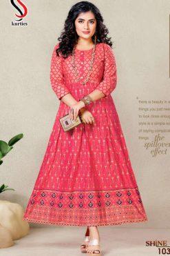 Shine Kurti Wholesale Catalog 8 Pcs