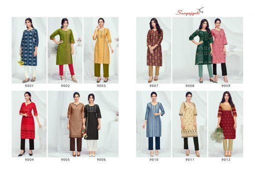 Suryajyoti Pehel Vol 9 Kurti Wholesale Catalog 12 Pcs 10 510x351 - Suryajyoti Pehel Vol 9 Kurti Wholesale Catalog 12 Pcs