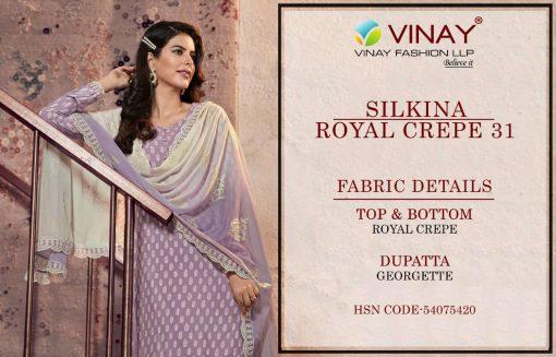 Vinay Silkina Royal Crepe Vol 31 Salwar Suit Wholesale Catalog 8 Pcs 13 510x327 - Vinay Silkina Royal Crepe Vol 31 Salwar Suit Wholesale Catalog 8 Pcs