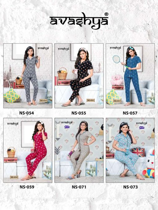 Avashya Premium Night Wear Vol 11 Wholesale Catalog 6 Pcs 7 510x680 - Avashya Premium Night Wear Vol 11 Wholesale Catalog 6 Pcs