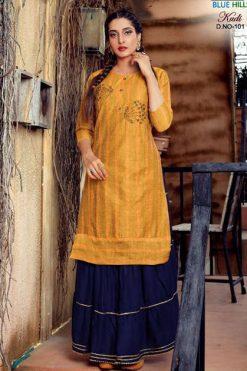 Blue Hills Kudi Vol 1 Kurti with Skirt Wholesale Catalog 6 Pcs