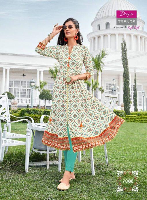 Diya Trends Ethnicity Vol 7 by Kajal Style Kurti Wholesale Catalog 10 Pcs 11 510x692 - Diya Trends Ethnicity Vol 7 by Kajal Style Kurti Wholesale Catalog 10 Pcs