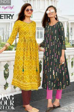Diya Trends Ethnicity Vol 7 by Kajal Style Kurti Wholesale Catalog 10 Pcs