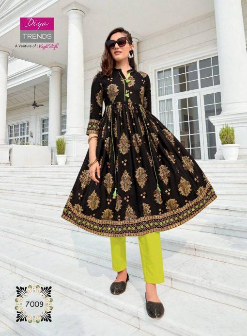 Diya Trends Ethnicity Vol 7 by Kajal Style Kurti Wholesale Catalog 10 Pcs 5 510x692 - Diya Trends Ethnicity Vol 7 by Kajal Style Kurti Wholesale Catalog 10 Pcs