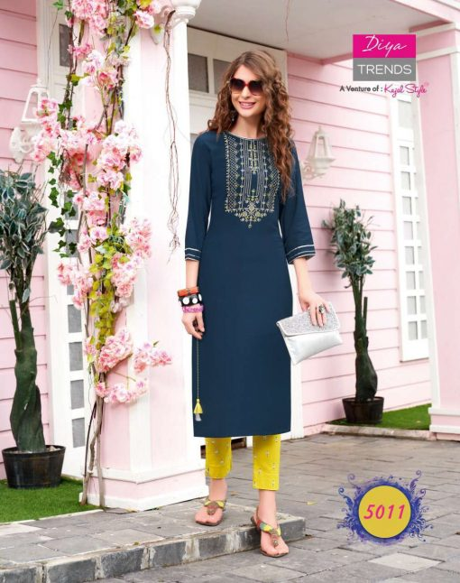 Diya Trends Fashionista Vol 1 by Kajal Style Kurti with Pant Wholesale Catalog 12 Pcs 10 510x646 - Diya Trends Fashionista Vol 1 by Kajal Style Kurti with Pant Wholesale Catalog 12 Pcs
