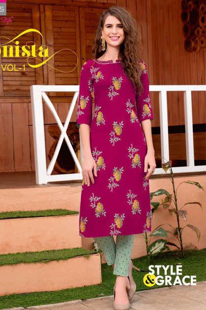 Diya Trends Fashionista Vol 1 by Kajal Style Kurti with Pant Wholesale Catalog 12 Pcs