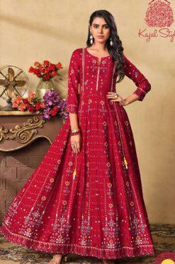 Kajal Style Fashion Colorbar Vol 5 Kurti Wholesale Catalog 10 Pcs