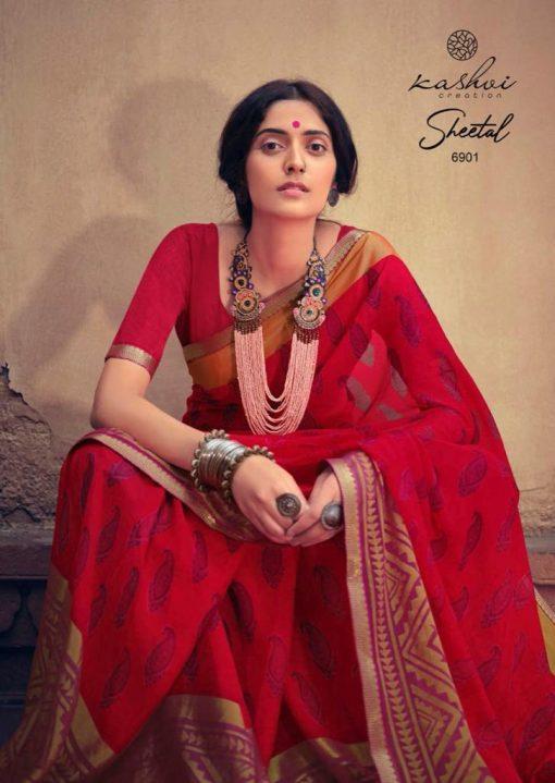 Kashvi Sheetal by Lt Fabrics Saree Sari Wholesale Catalog 10 Pcs 5 510x719 - Kashvi Sheetal by Lt Fabrics Saree Sari Wholesale Catalog 10 Pcs