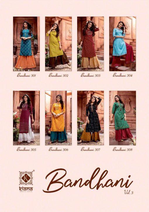 Kiana Bandhani Vol 3 Kurti with Sharara Wholesale Catalog 8 Pcs 10 510x725 - Kiana Bandhani Vol 3 Kurti with Sharara Wholesale Catalog 8 Pcs