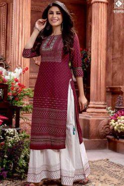 Kiana Bandhani Vol 3 Kurti with Sharara Wholesale Catalog 8 Pcs