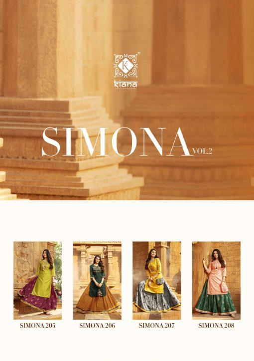 Kiana Simona Vol 2 Kurti with Skirt Wholesale Catalog 8 Pcs 20 510x725 - Kiana Simona Vol 2 Kurti with Skirt Wholesale Catalog 8 Pcs