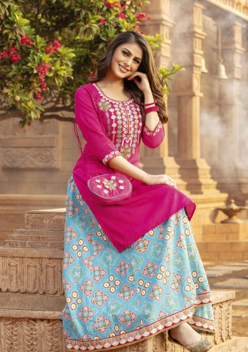 Kiana Simona Vol 2 Kurti with Skirt Wholesale Catalog 8 Pcs 9 510x725 - Kiana Simona Vol 2 Kurti with Skirt Wholesale Catalog 8 Pcs