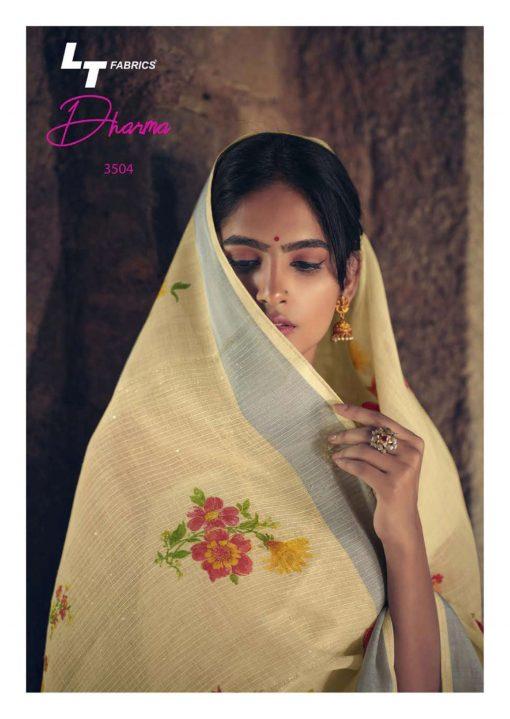 Lt Fabrics Dharma Saree Sari Wholesale Catalog 10 Pcs 10 510x719 - Lt Fabrics Dharma Saree Sari Wholesale Catalog 10 Pcs
