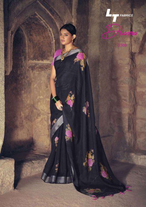 Lt Fabrics Dharma Saree Sari Wholesale Catalog 10 Pcs 18 510x719 - Lt Fabrics Dharma Saree Sari Wholesale Catalog 10 Pcs