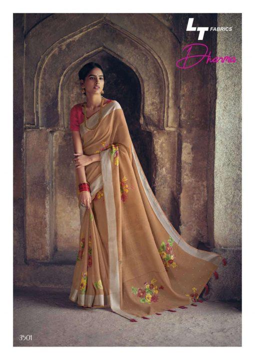 Lt Fabrics Dharma Saree Sari Wholesale Catalog 10 Pcs 3 510x719 - Lt Fabrics Dharma Saree Sari Wholesale Catalog 10 Pcs
